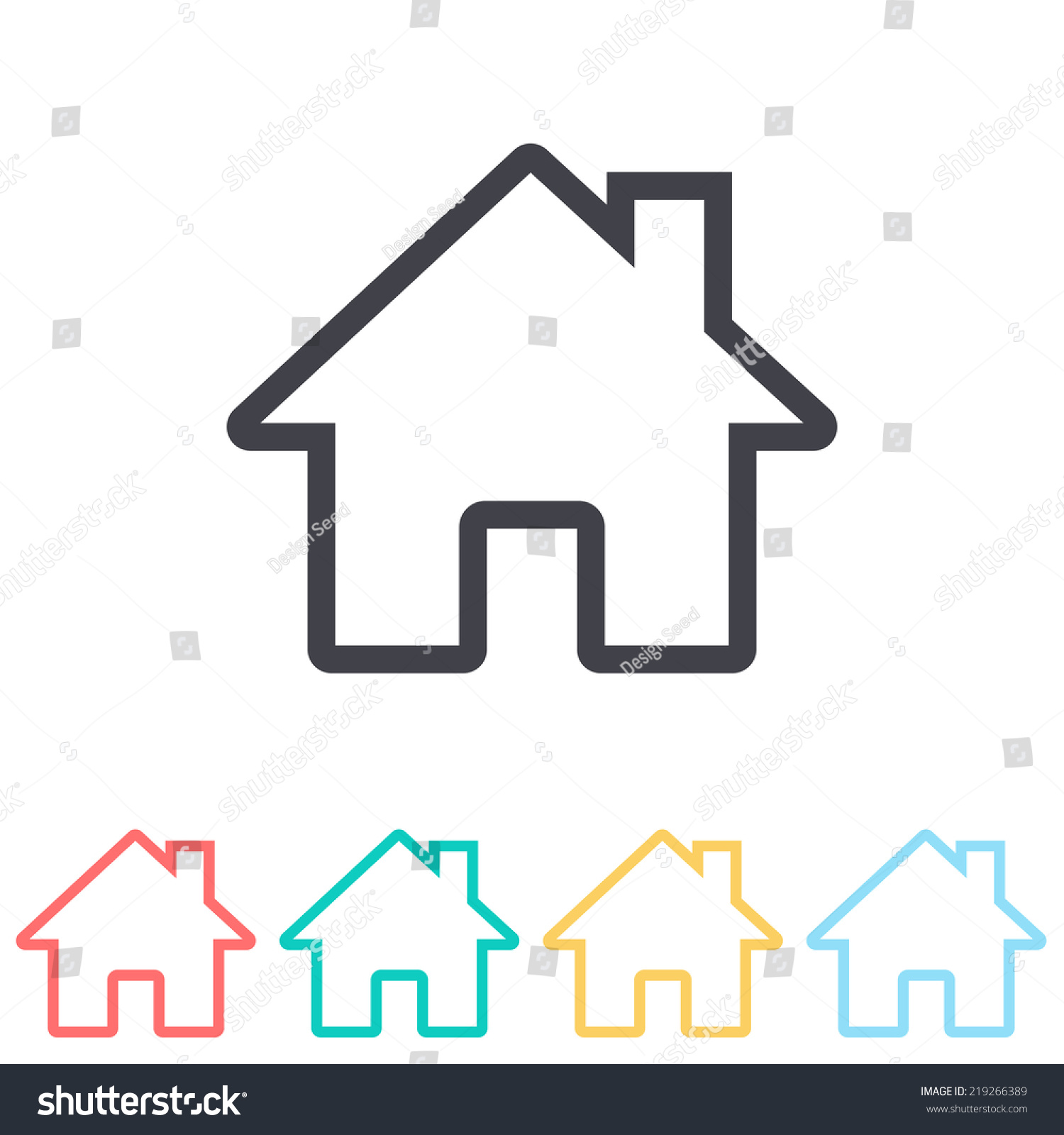 Home Icon Stock Vector 219266389 - Shutterstock