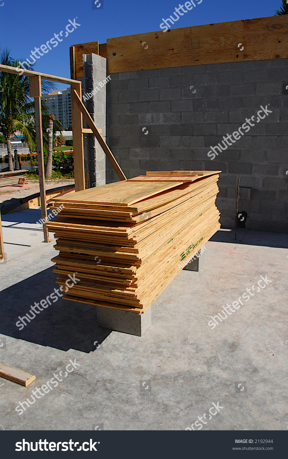 Residential Construction Site In South Florida Stock Photo ...