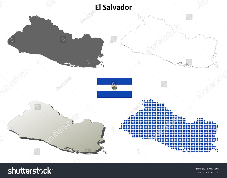 Royalty Free Stock Illustration of El Salvador Blank Detailed ...