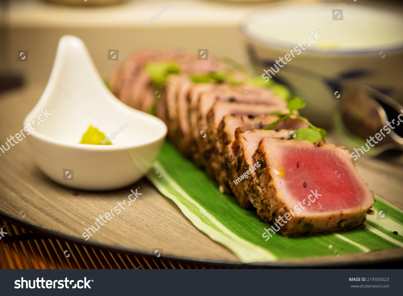 Seared Tuna Steaks With Wasabi-Green Onion Mayonnaise ...