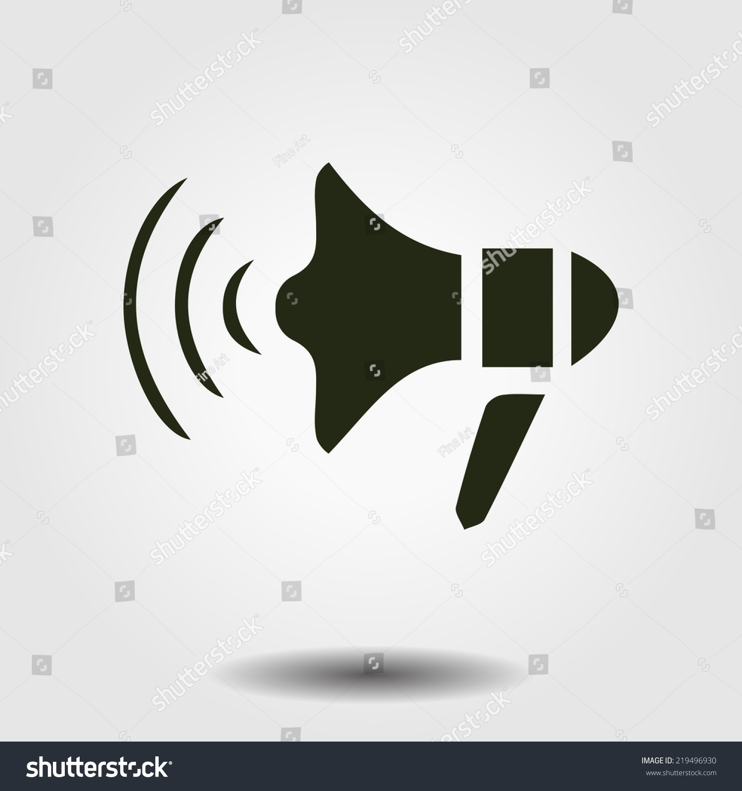Megaphone Soon Icon Loudspeaker Symbol Stock Vector 219496930 ...