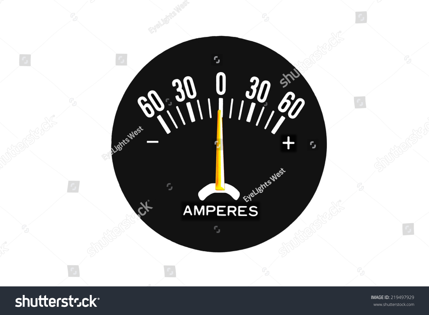 Analog Amp Meter Ammeter Amperemeter Measures Stock Photo Edit Now Volt Meters Ampere With Pic Or Dc Direct Current In Units Called