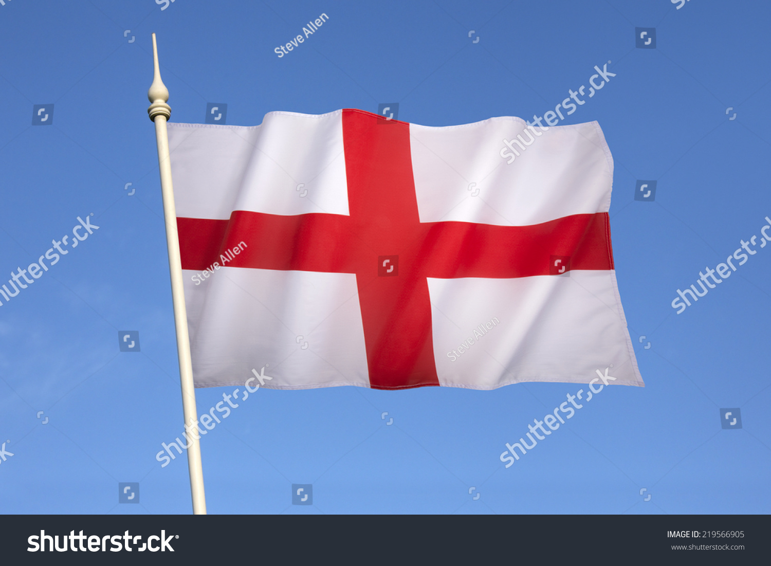 flag england st georges cross red stock photo 219566905 shutterstock