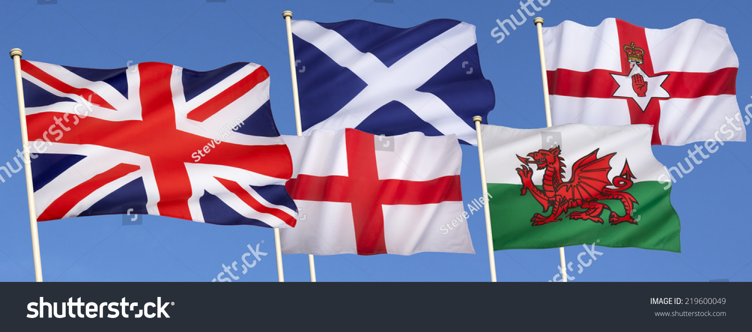 flags united kingdom great britain england stock photo 219600049