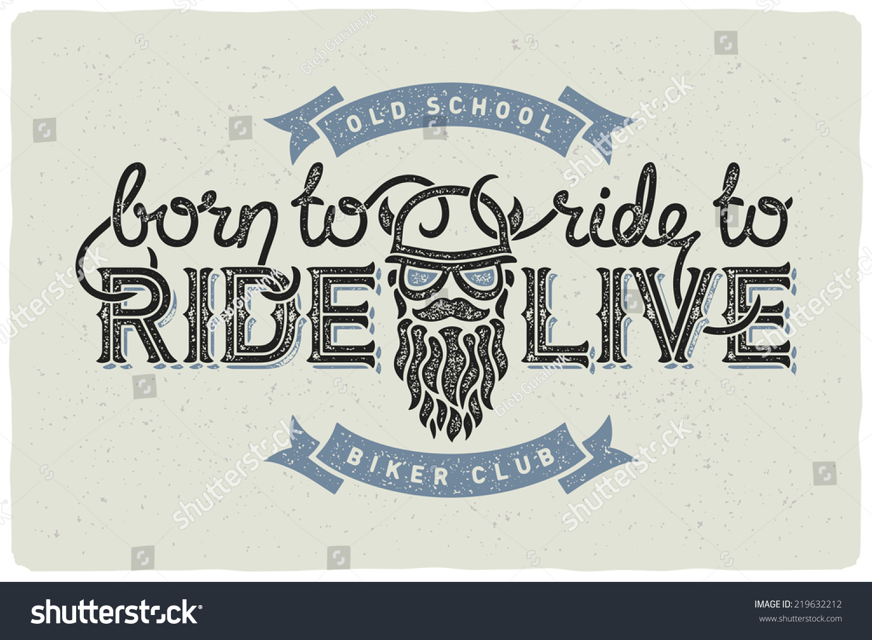 biker club badge emblem beard man stock vector 219632212 shutterstock. Black Bedroom Furniture Sets. Home Design Ideas