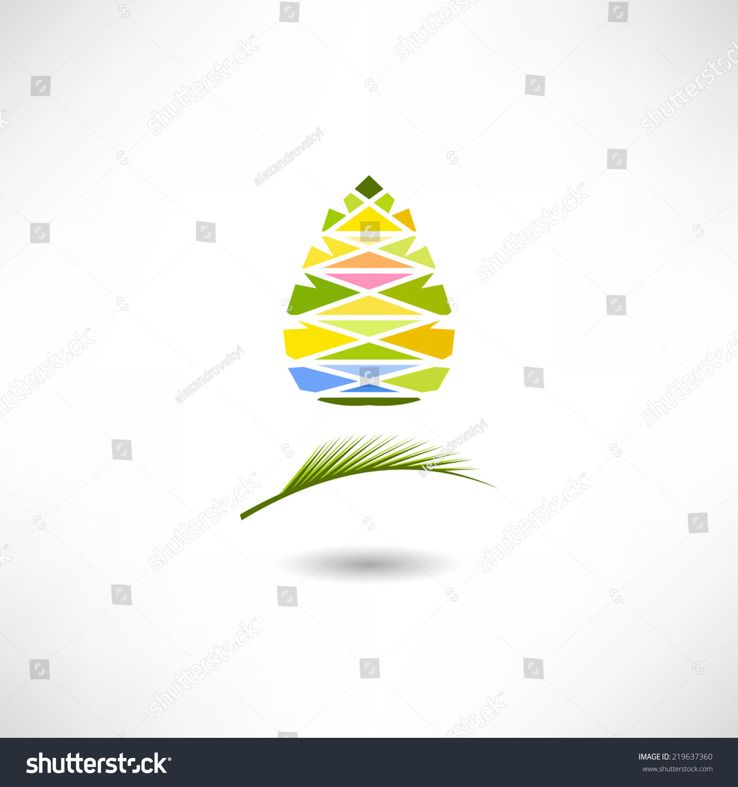 pinecone icon stock vector illustration 219637360