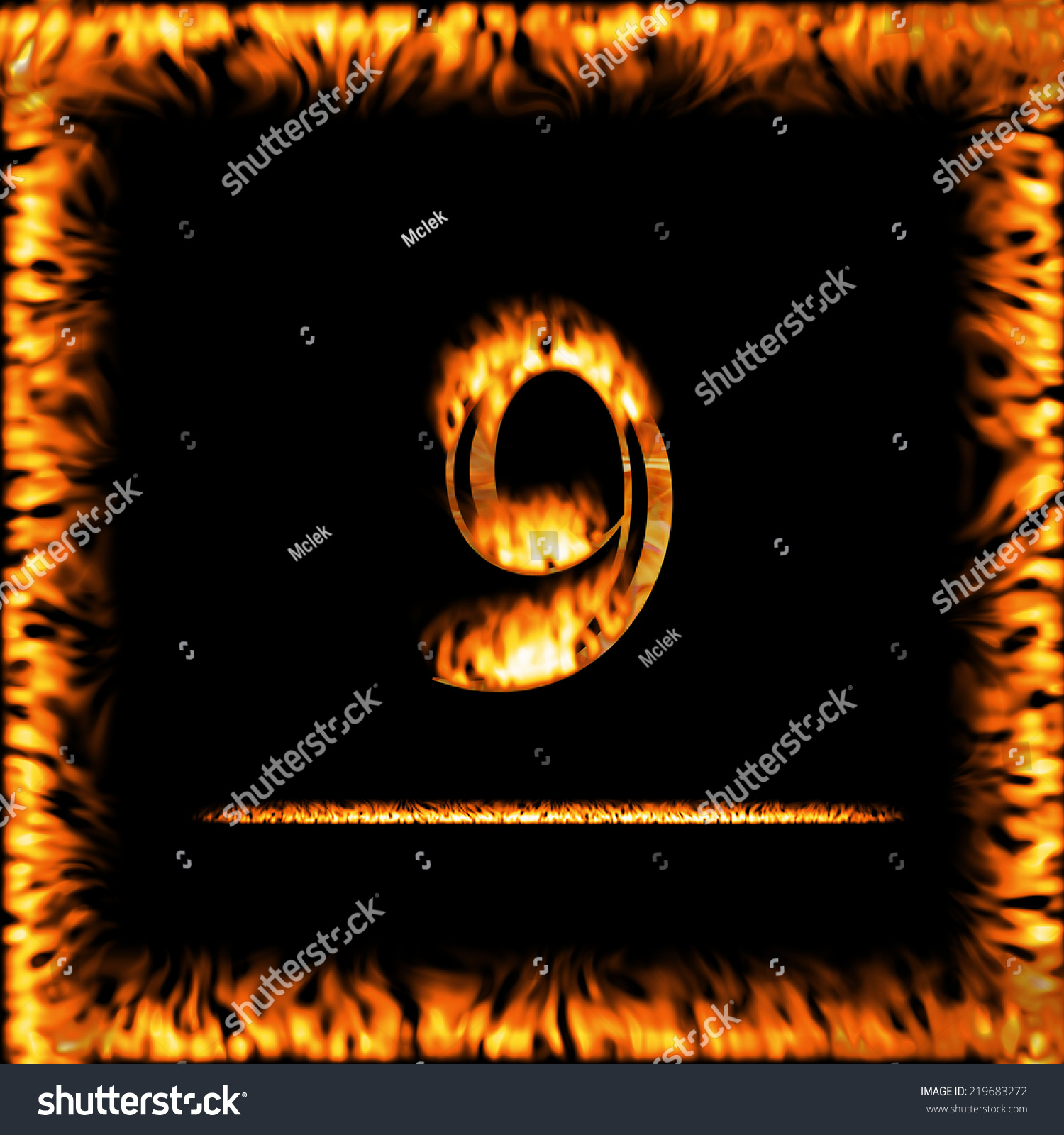 9 nine fire digit letter symbol stock illustration 219683272 9 nine fire digit letter symbol isolated on a black background look for more biocorpaavc Choice Image