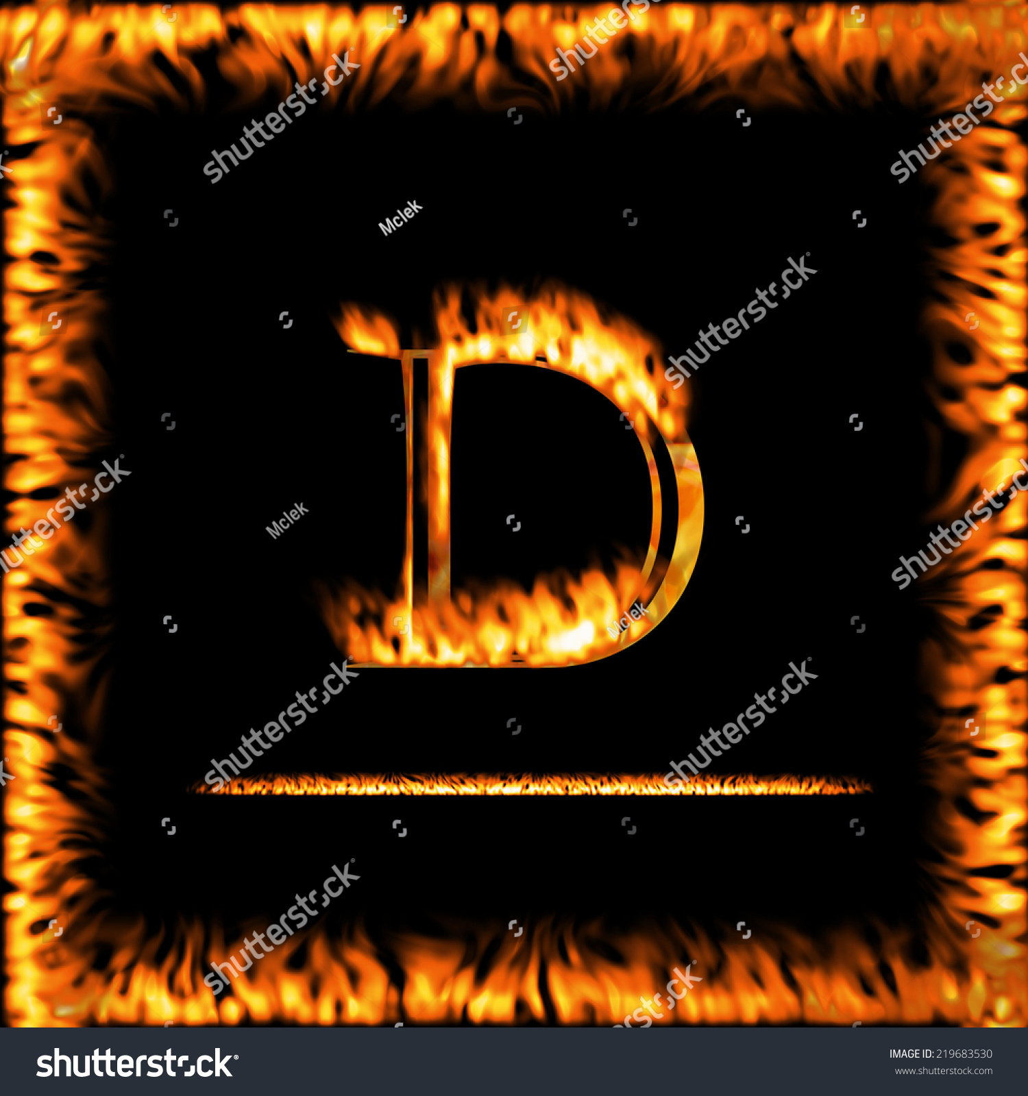 D fire letter isolated on black stock illustration 219683530 d fire letter isolated on a black background look for more symbols in my biocorpaavc Images