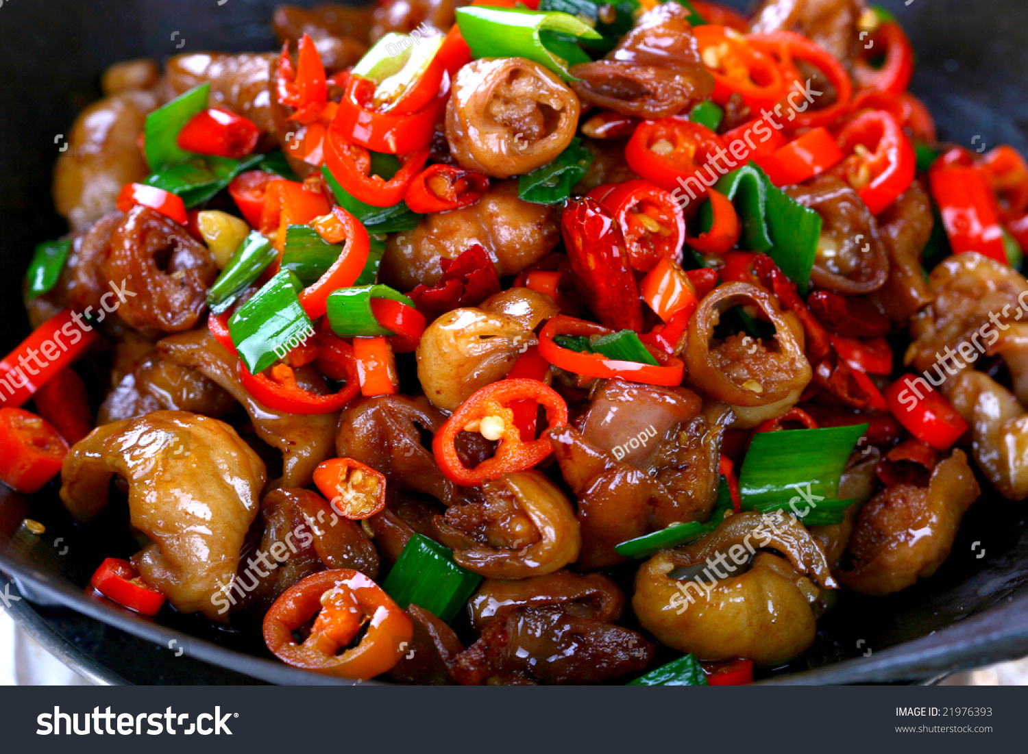 Delicious chinese food fried dish hot pepper sausage stock photo 21976393 shutterstock - Delicious chinese cuisine ...