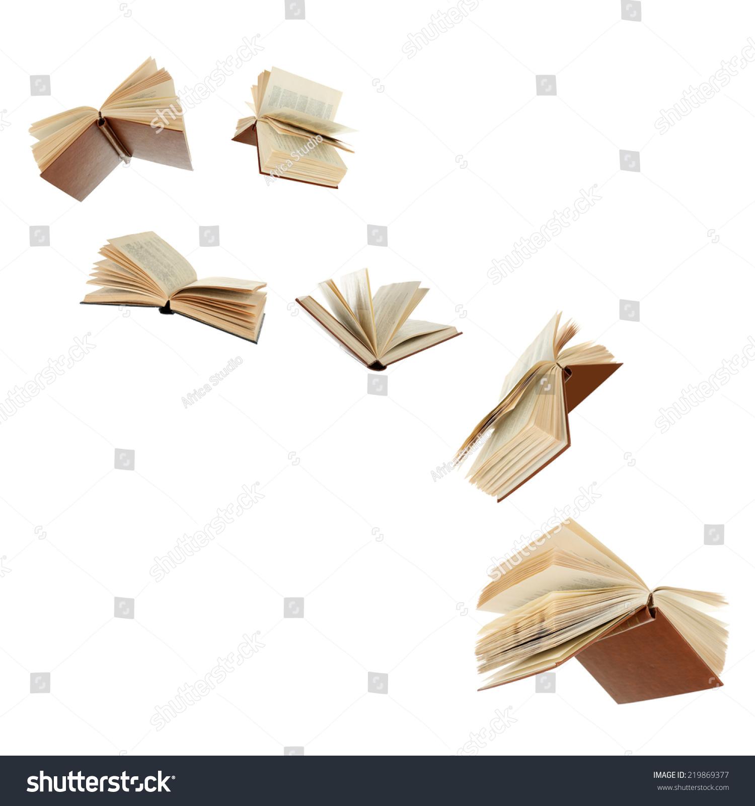 Flying Books Isolated On White Stock Photo 219869377 - Shutterstock