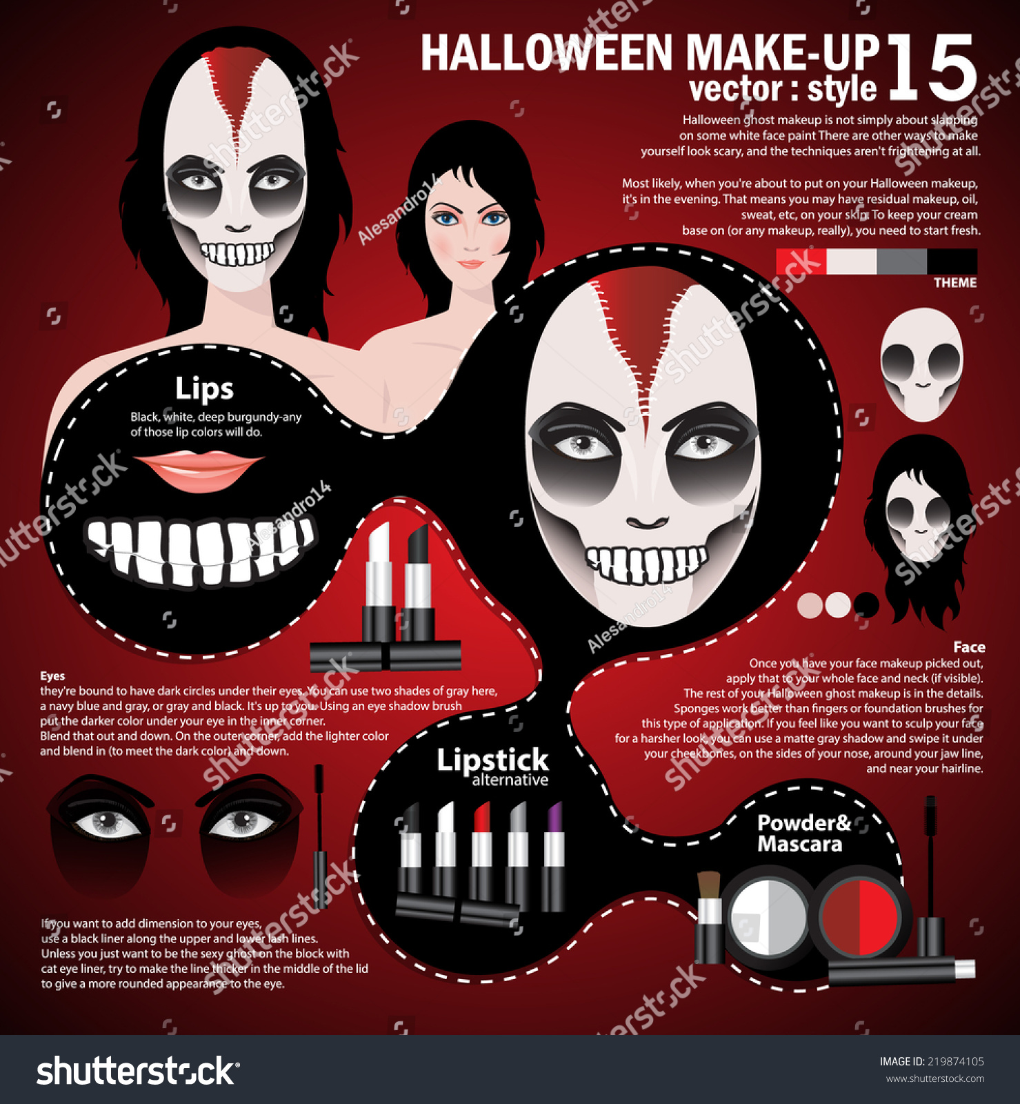 drawing technique makeup halloween face art skull mexican style ez canvas
