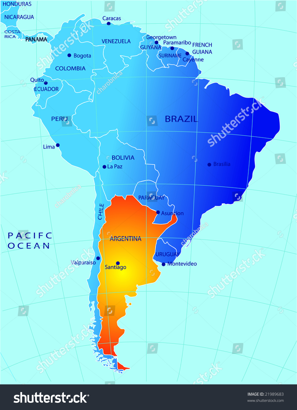 Political Map Argentina Stock Vector Shutterstock - Argentina map of