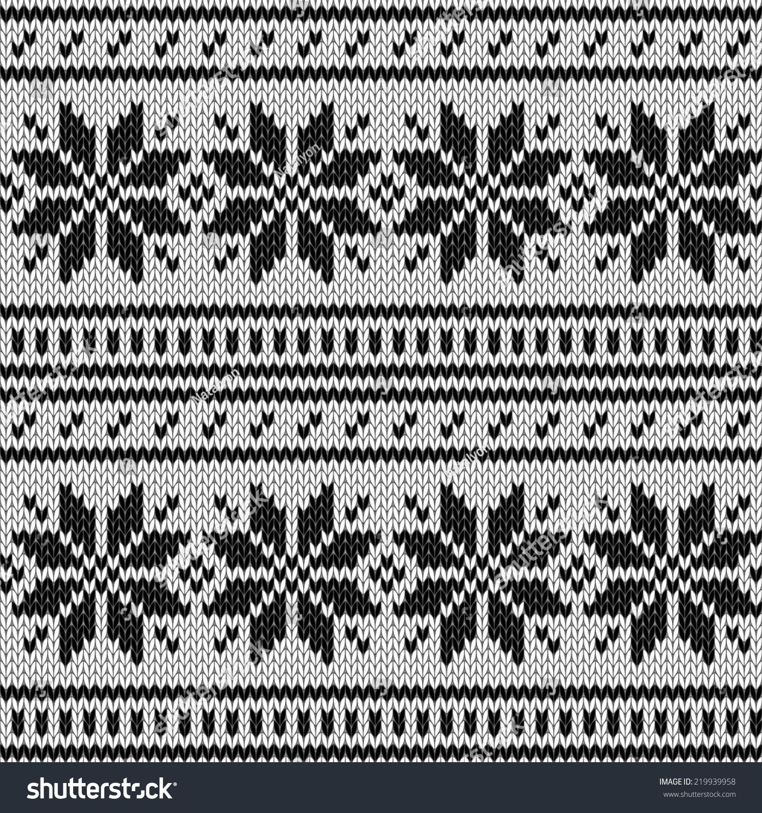 Scandinavian Knitted Sweater Geometric Seamless Pattern Stock Vector ...