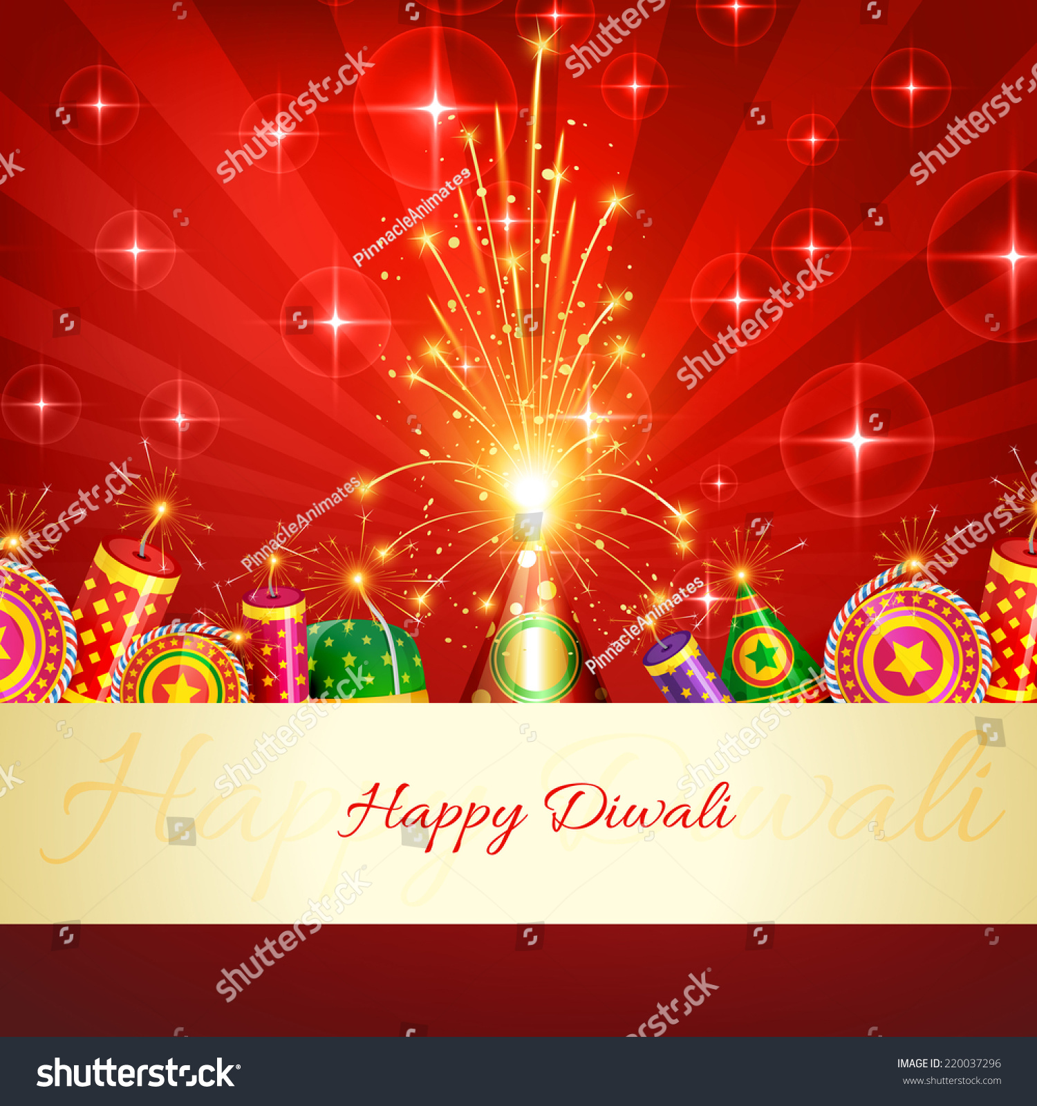 vector happy diwali crackers background