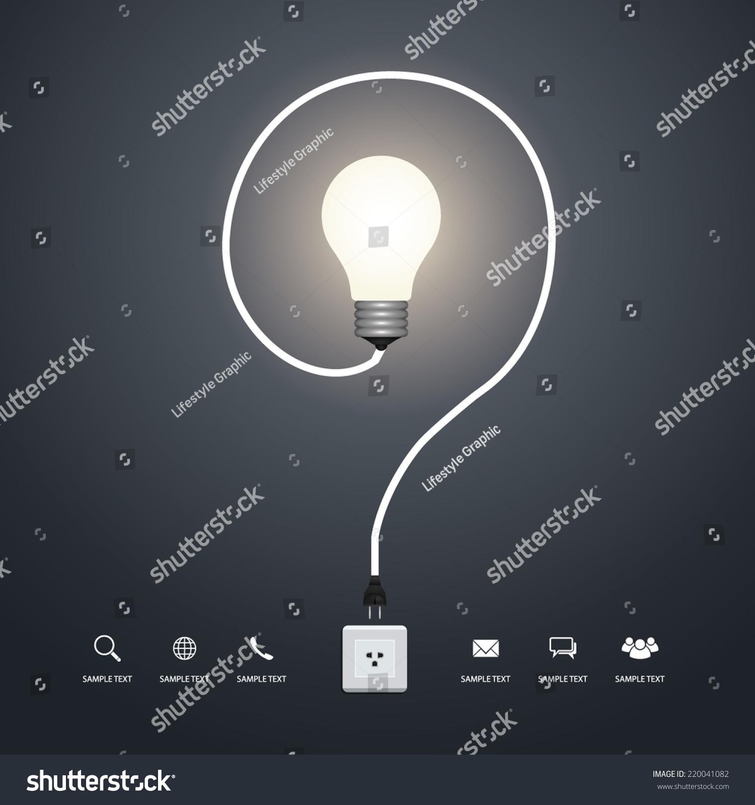 Question Mark Creative Light Bulb Vector Stock Vector HD (Royalty ...