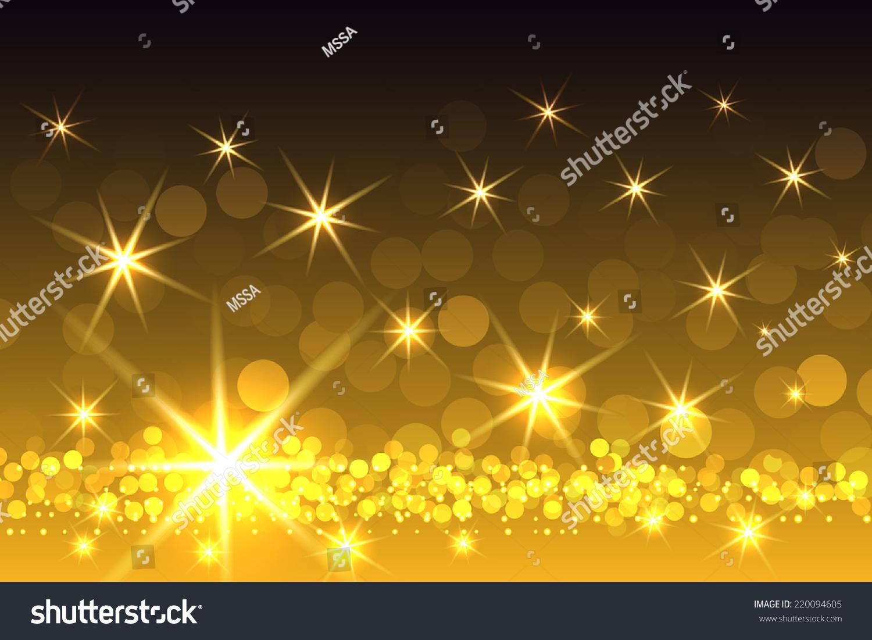 gradient yellow sparkling starburst christmas themed stock