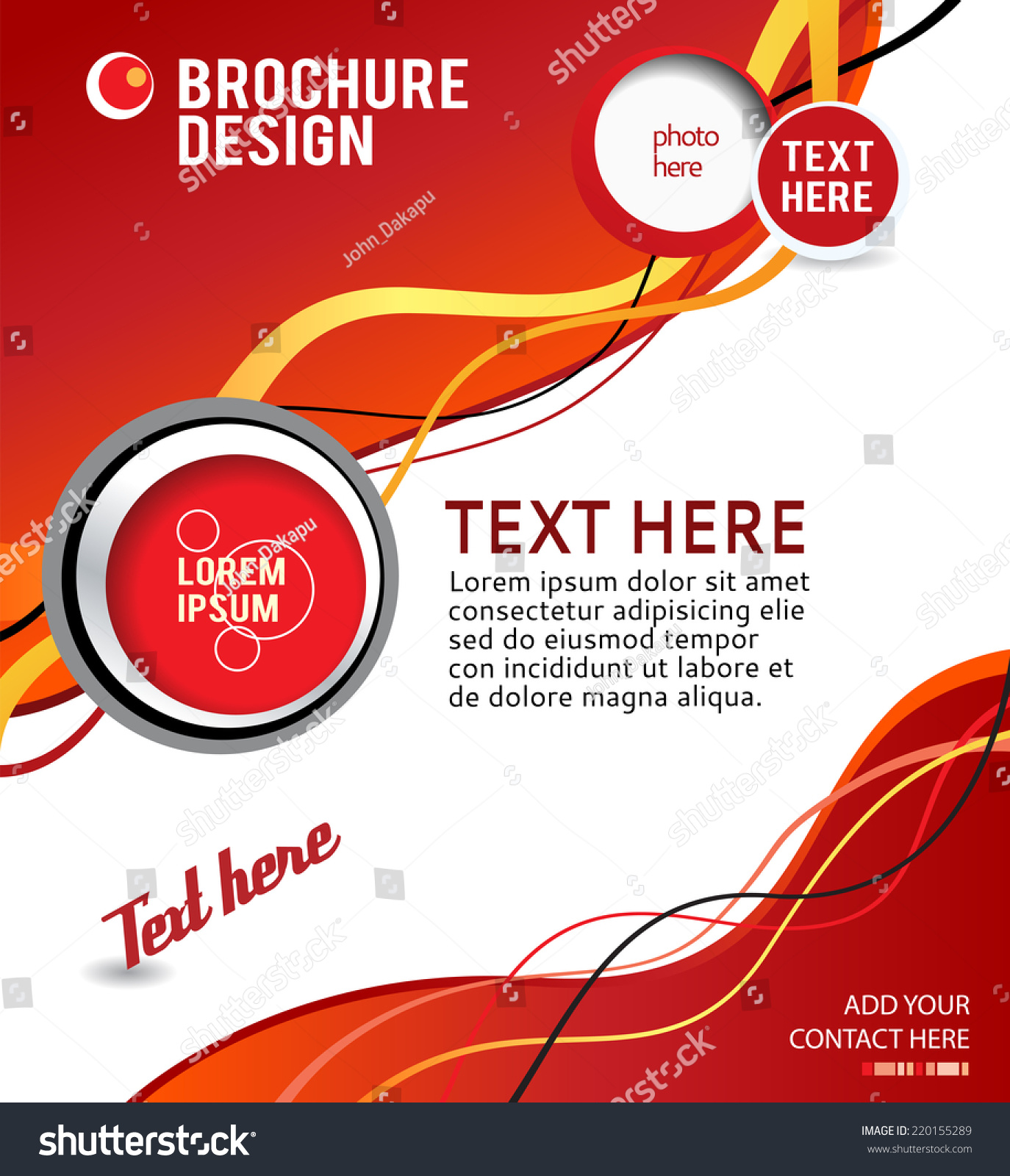 stylish presentation business poster magazine cover stock vector, Presentation templates