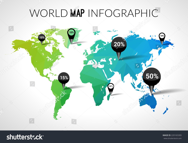 Vector 3 d world map points percantage vector de stock220165309 vector 3 d world map points percantage vector de stock220165309 shutterstock gumiabroncs Images
