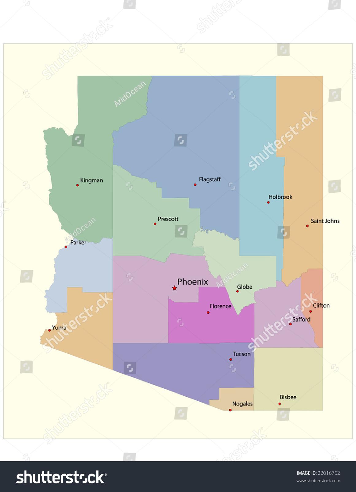 az county map state and county maps of arizona az county arizona