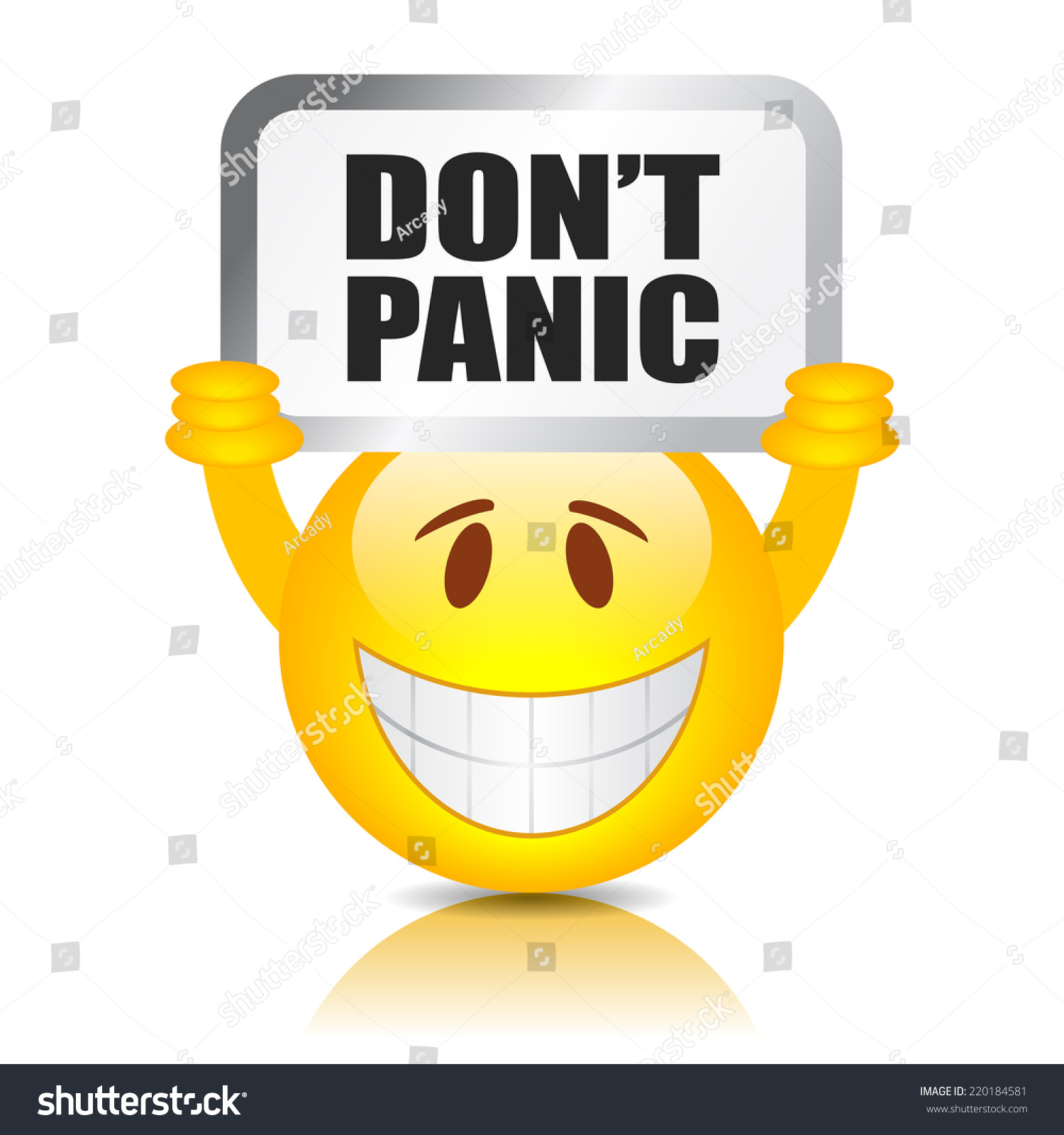 Dont Panic Sign Stock Vector (Royalty Free) 220184581