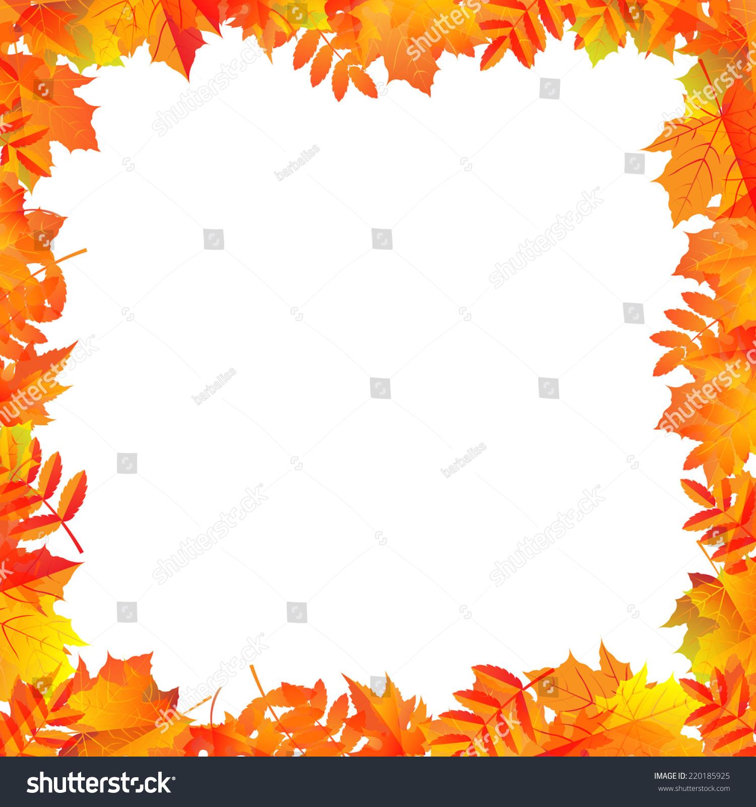 Autumn Leaves Border Gradient Mesh Vector Stock Vector ...