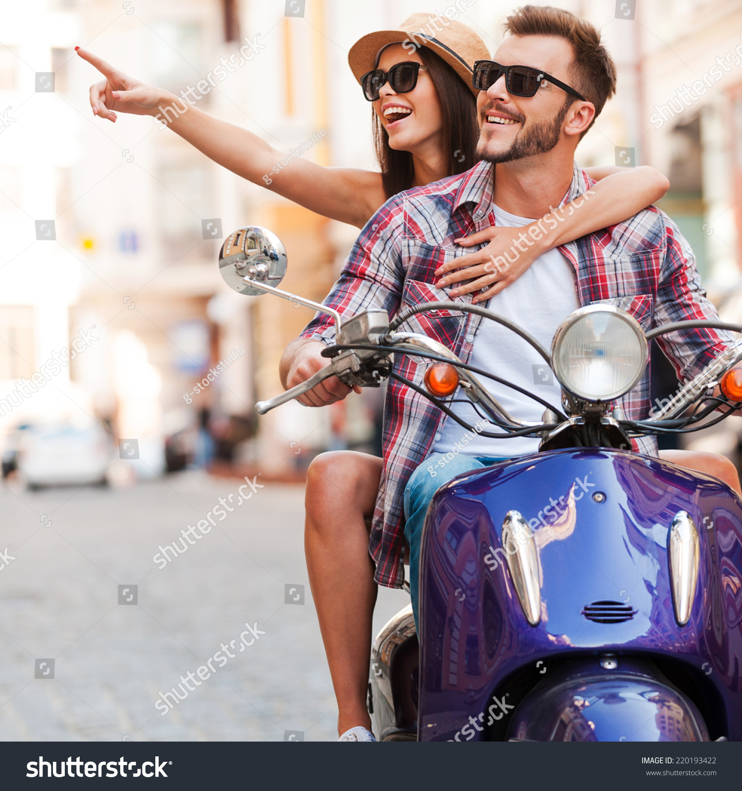 Just Look At That! Beautiful Young Couple Riding Scooter ...