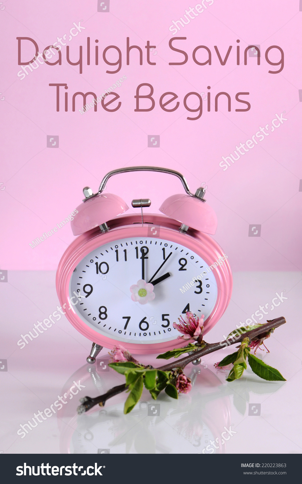 Daylight savings time begins clock concept stock photo for When was daylight savings time started