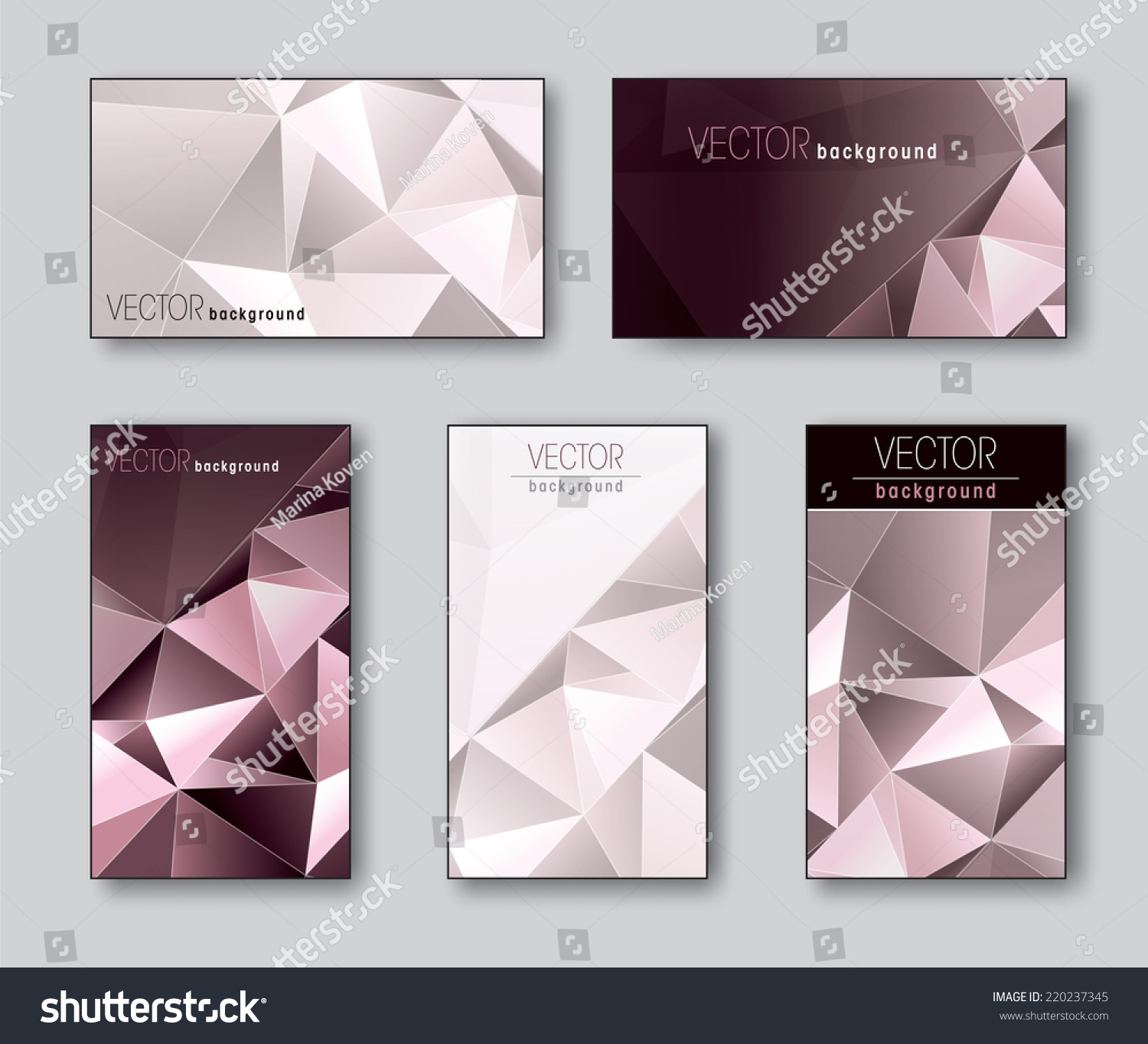 set business cards t cards stock vector shutterstock