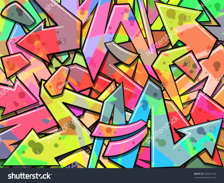 Colorful Graffiti Background Stock Illustration 220251502