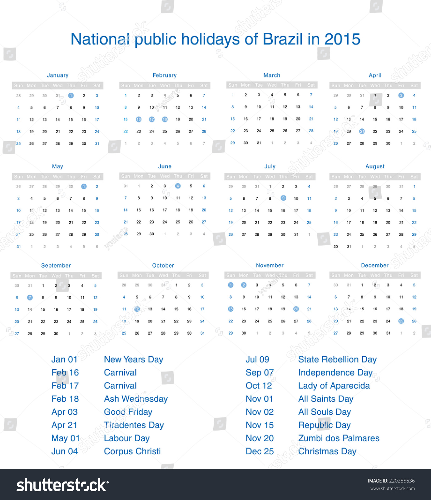 Holiday Calendar Design : What are the public holidays in brazil lifehacked st