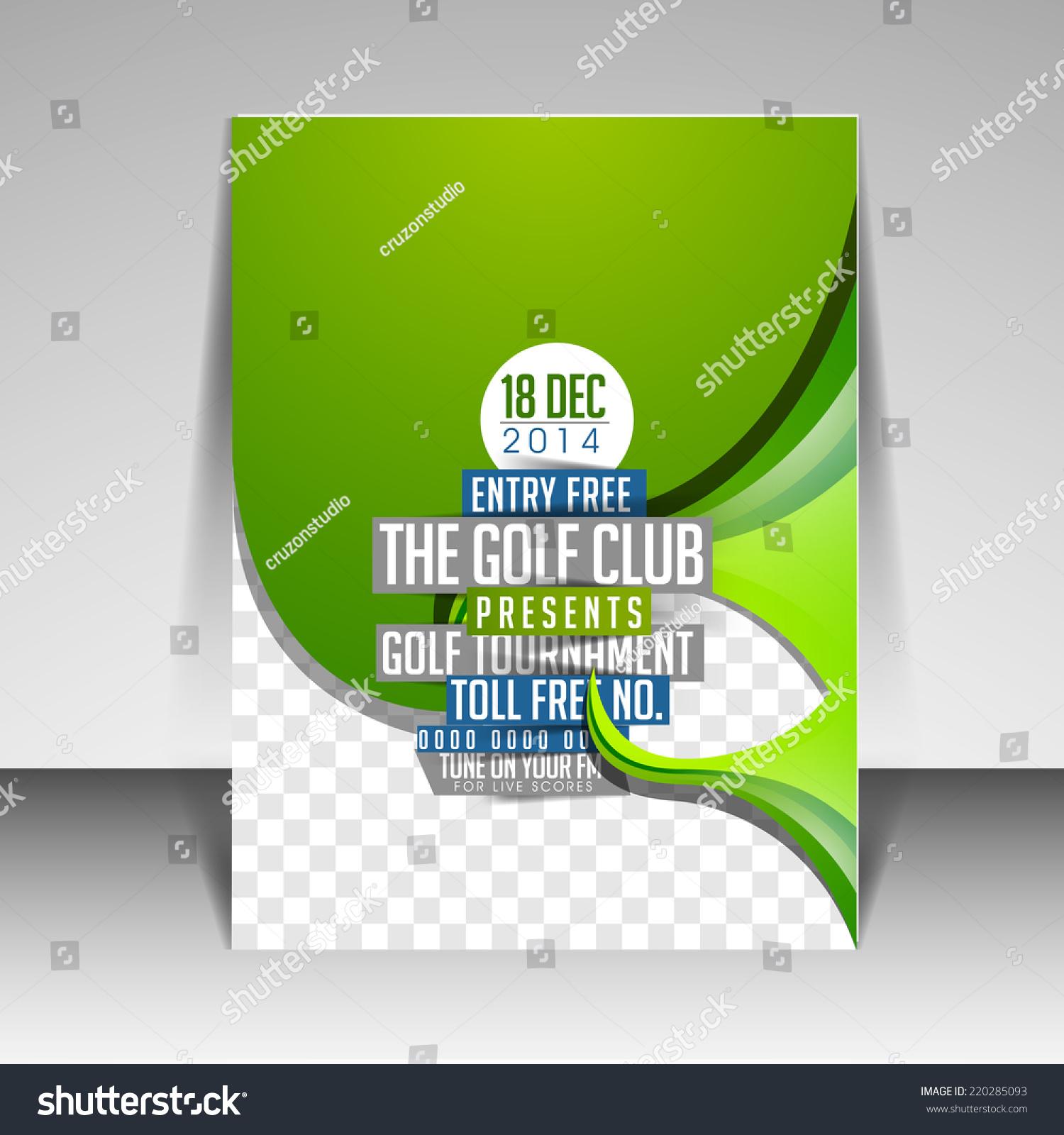 modern brochure flyer template design golf stock vector royalty