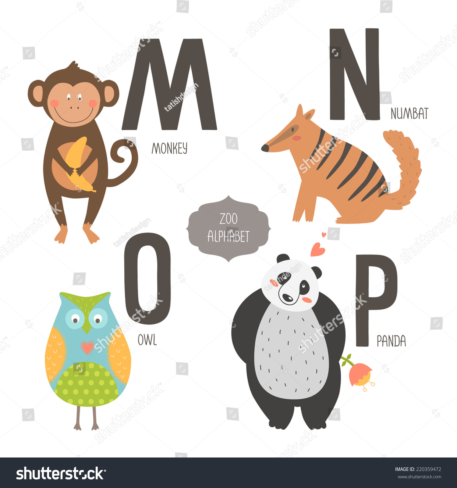 Letter Animals Starting With B
