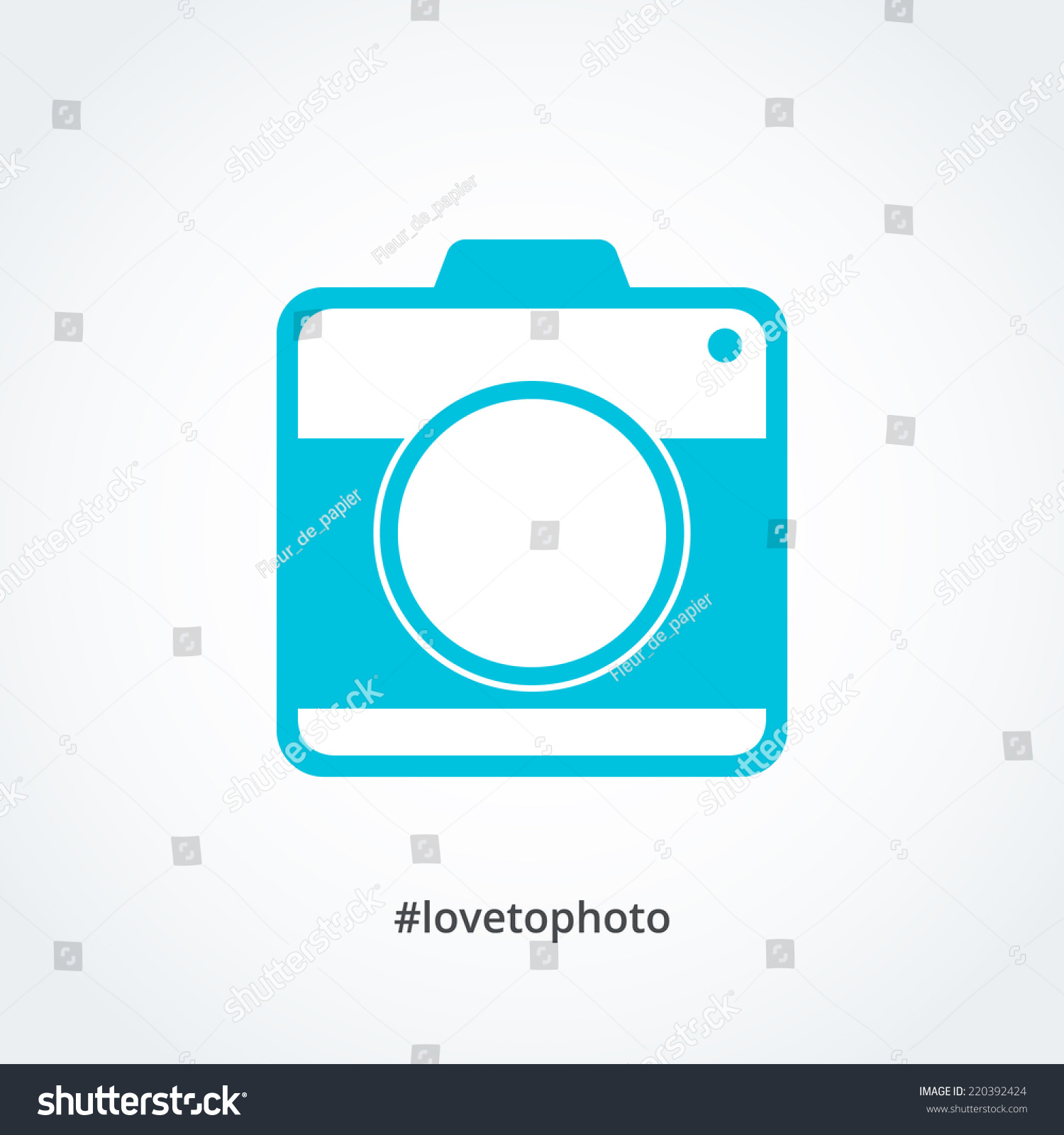 Vector Illustration Instagram: Abstract Instagram Camera Icon Vector Editable Stock