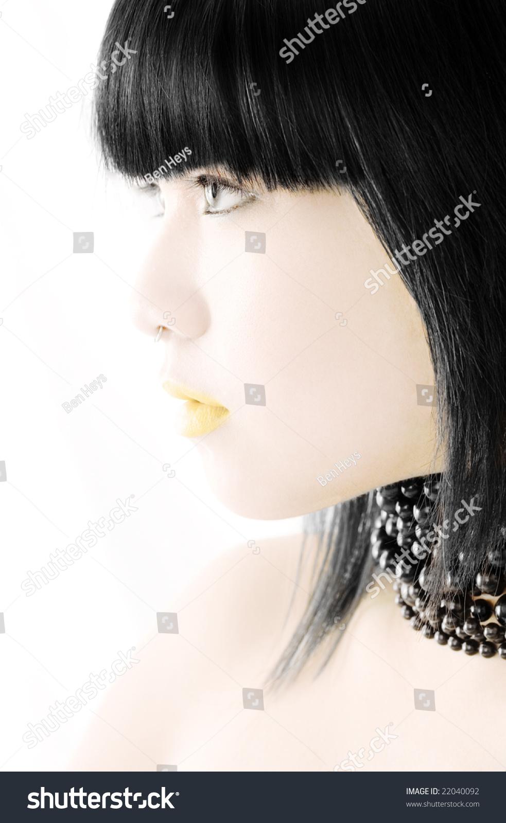 Vietnamese Beauty Model Portrait On White Stock Photo 22040092 ...