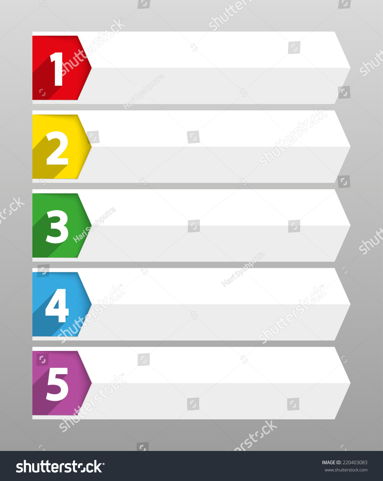 Table Contents Use Template Sequence Ranking Stock Vector (2018 ...