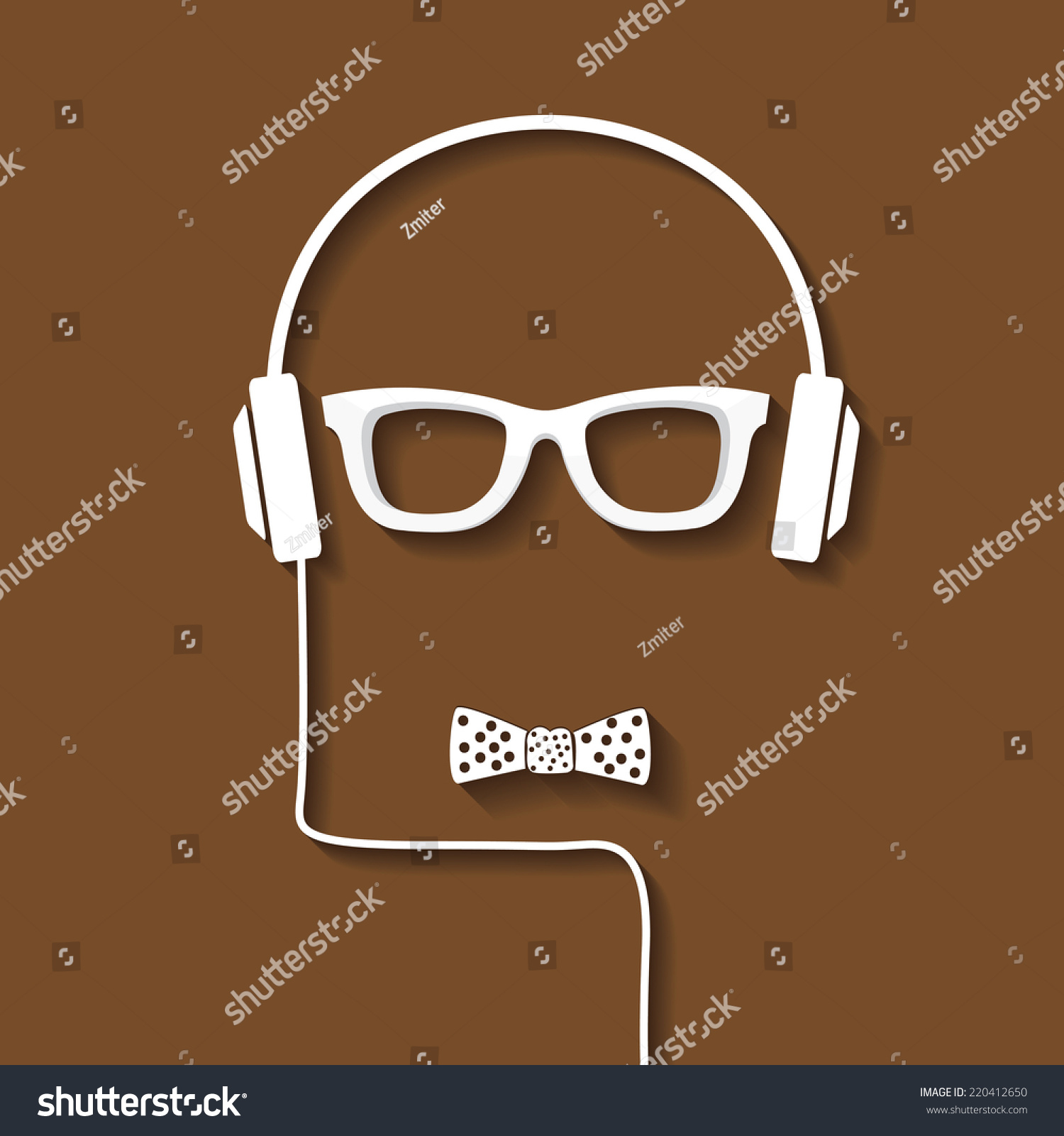 Hipster Man Icon Fashion Silhouette Hipster Stock Vector 220412650 Shutterstock