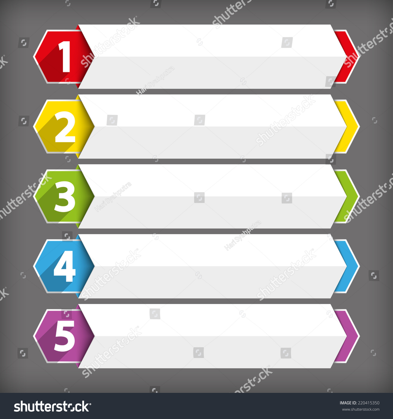 table contents use template sequence ranking stock vector royalty