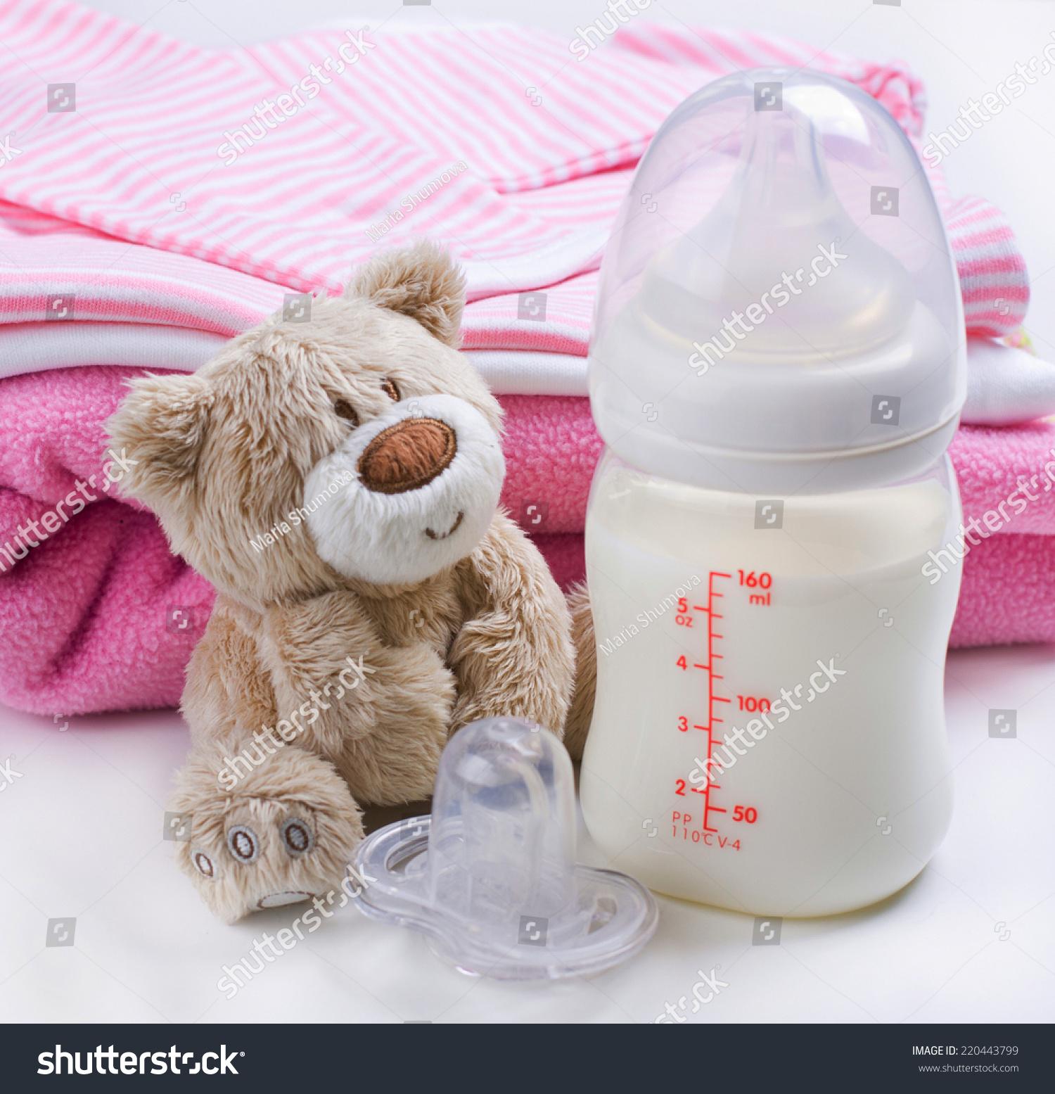 2c191e3c2 Baby Girls Stuff Including Bottle Milk Stock Photo (Edit Now ...