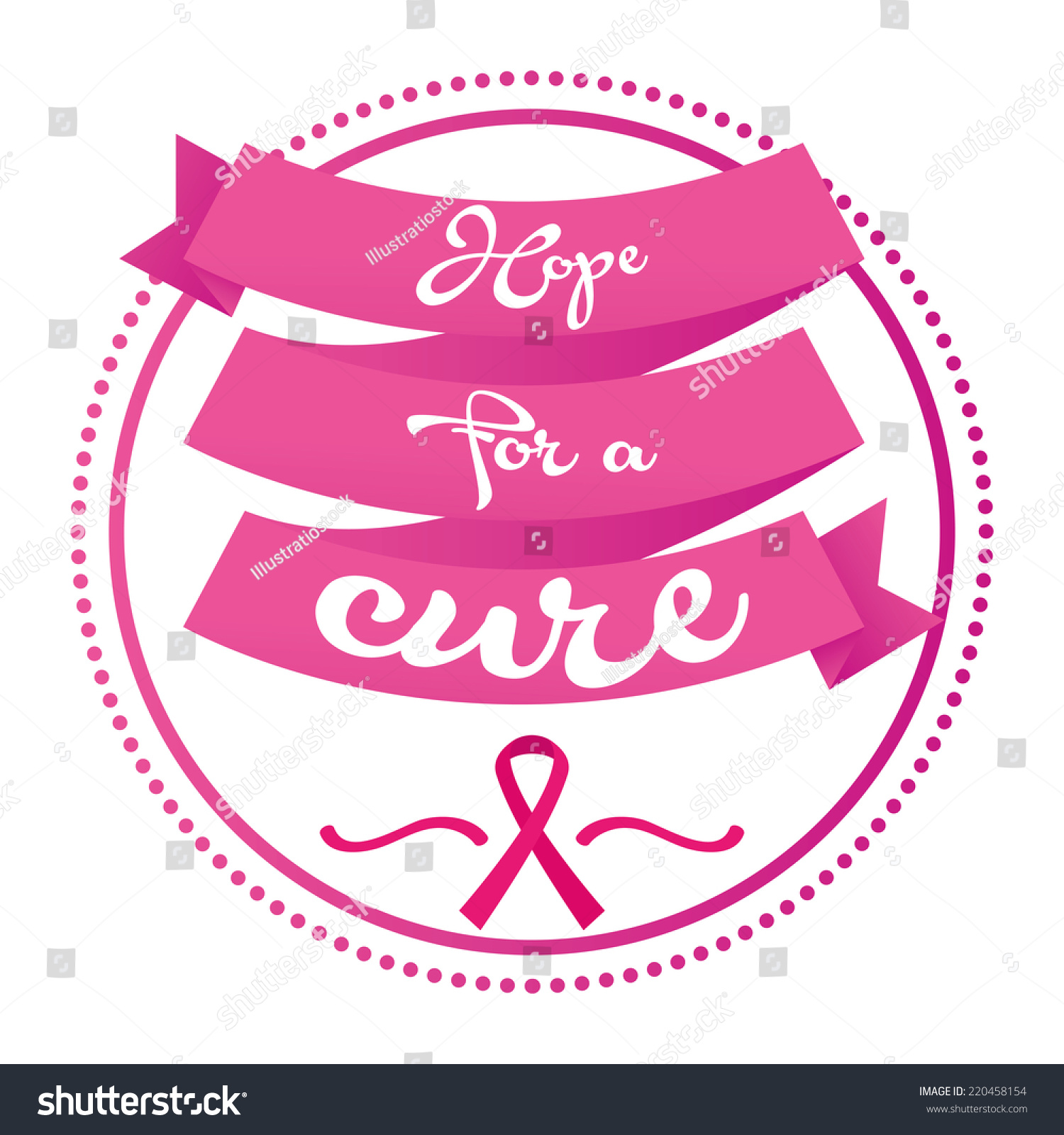 Isolated ribbon text breast cancer symbol stock vector 220458154 an isolated ribbon with text and the breast cancer symbol biocorpaavc Gallery