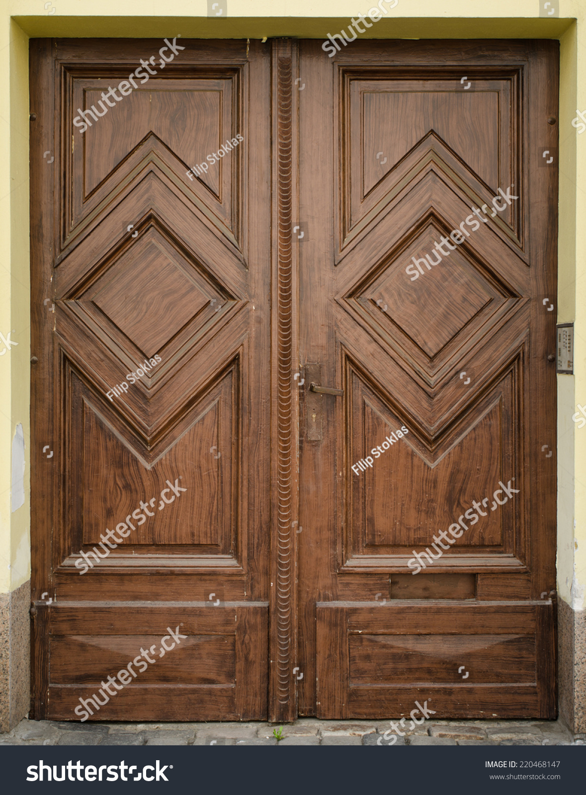 Historical ornate wooden door prague the czech republic for Door z prague