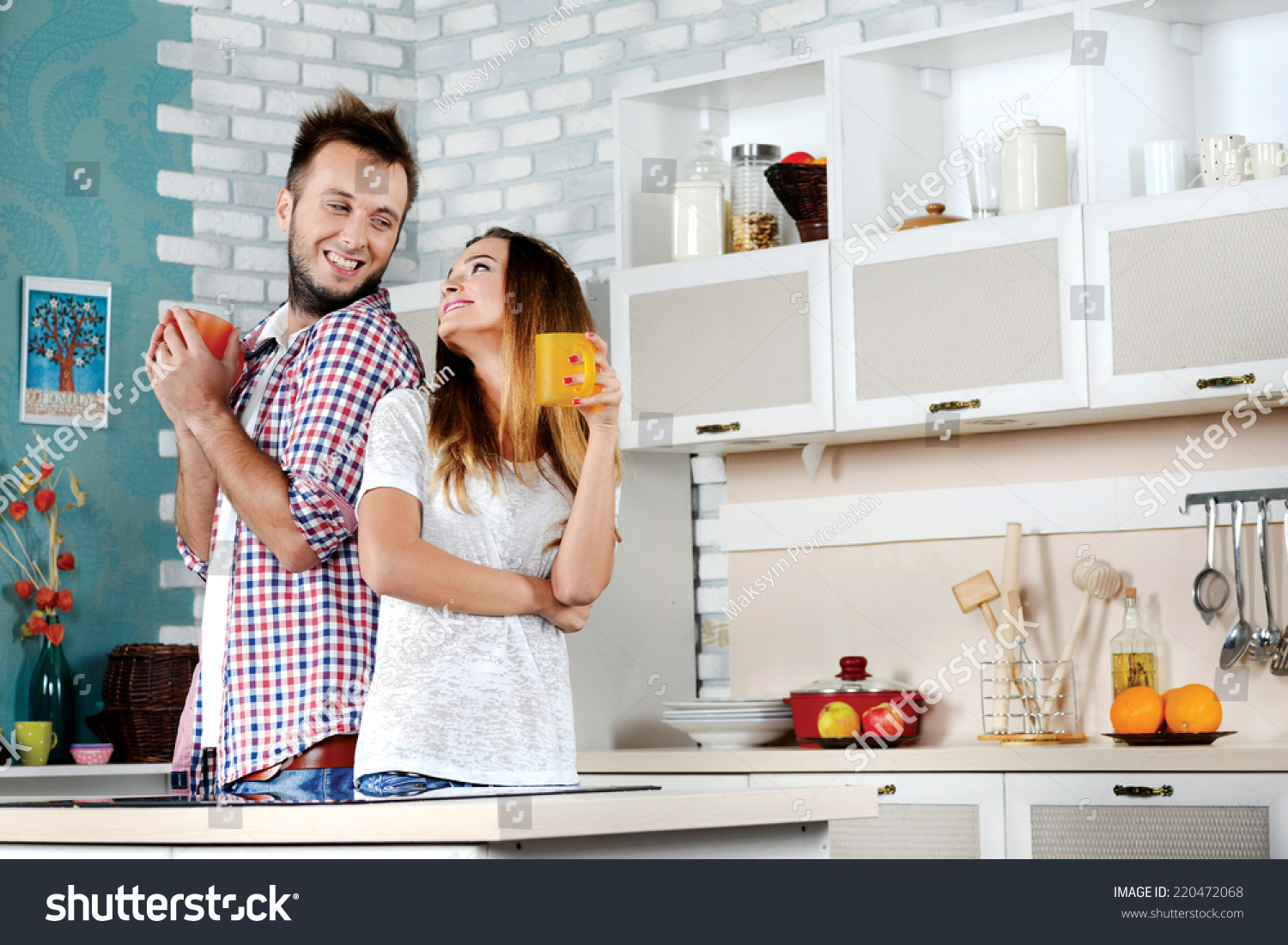 Tea Ceremony Young Couple Love Drinking Stock Photo (Edit Now ...