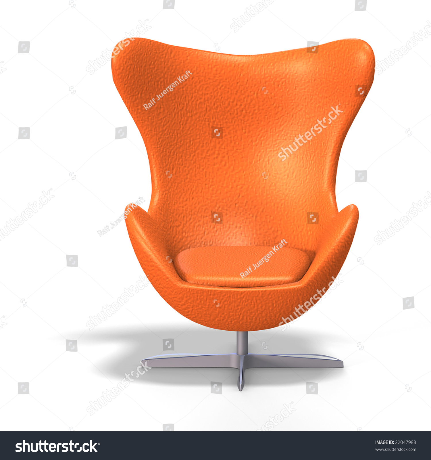 Nice Funky Egg Chair From The 70s With Clipping Path