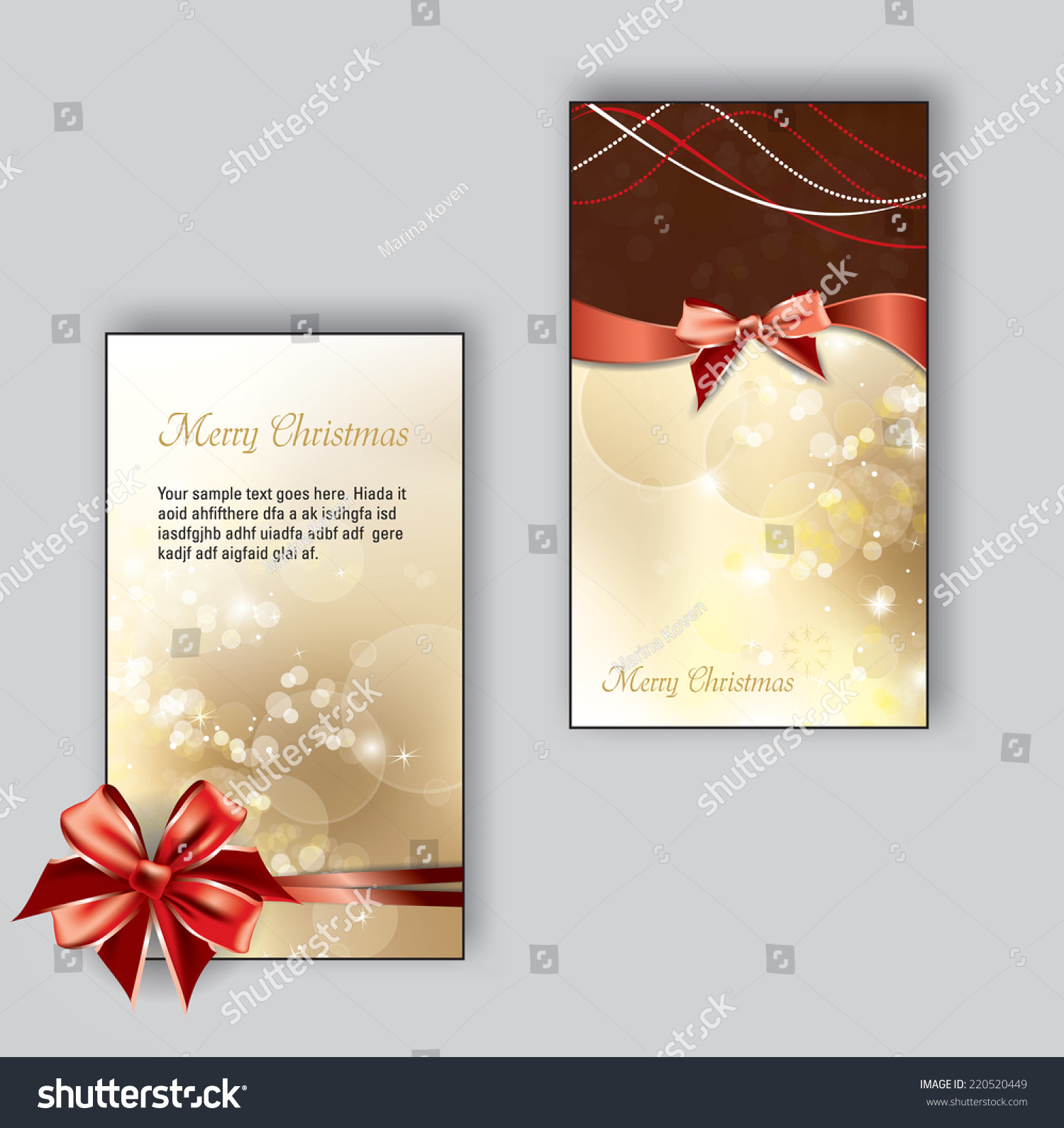Christmas Greeting Cards Could Be Used For Birthdays Weddings Thank You And