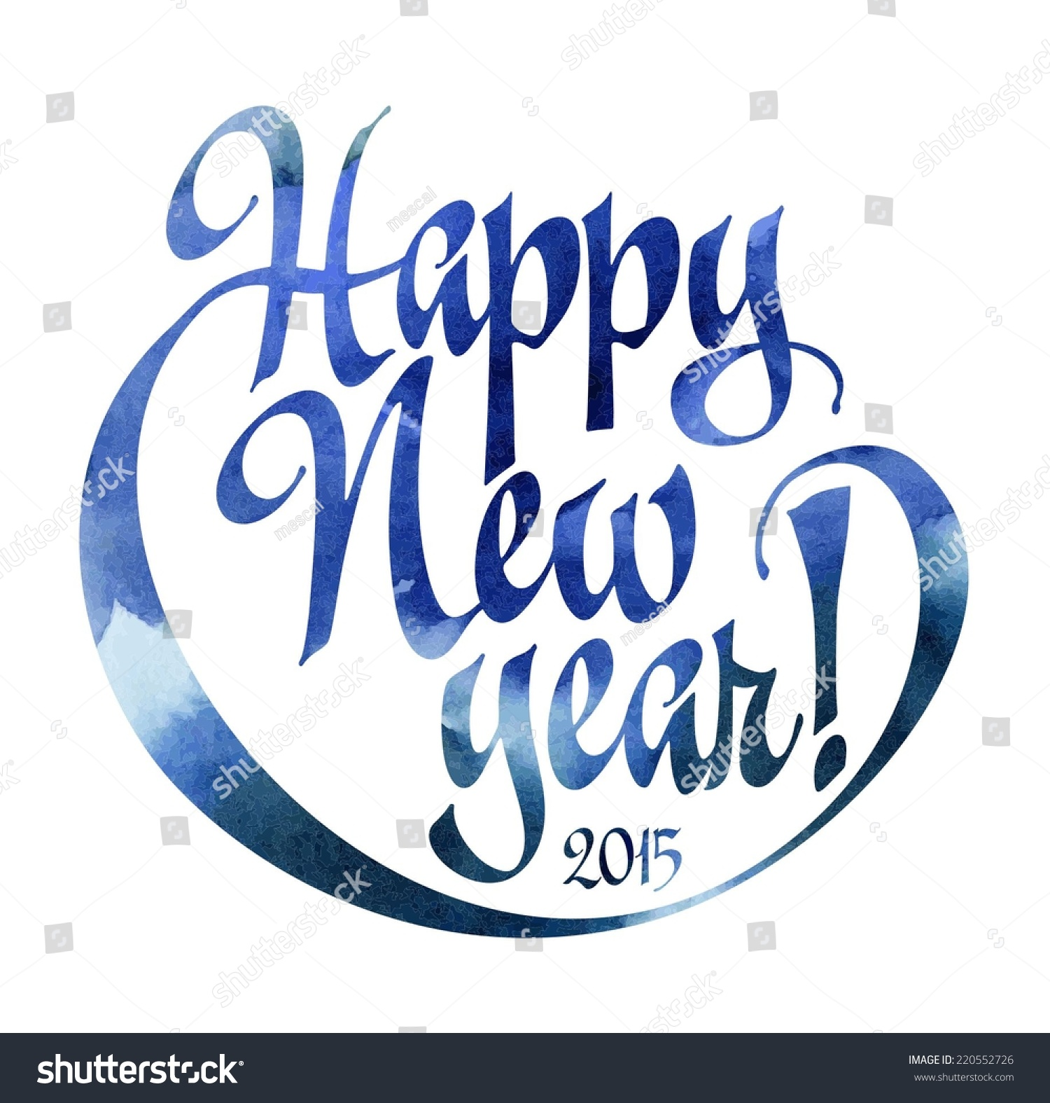 Happy new year calligraphic writing greeting stock vector royalty happy new year calligraphic writing for greeting cards and posters vector image with watercolor background m4hsunfo
