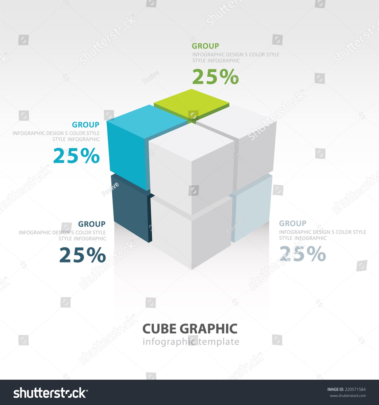 Cube Infographic Template Stock Vector Royalty Free 220571584 Diagram