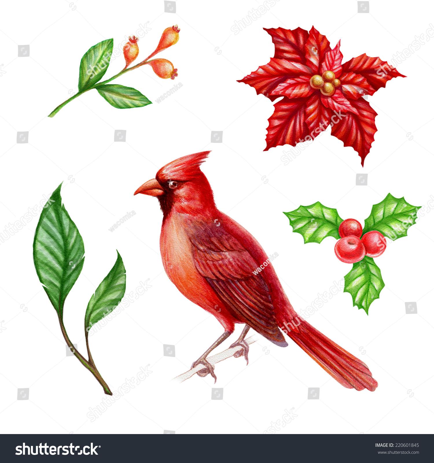 Christmas Clipart Set Isolated On White Stockillustration 220601845 ...