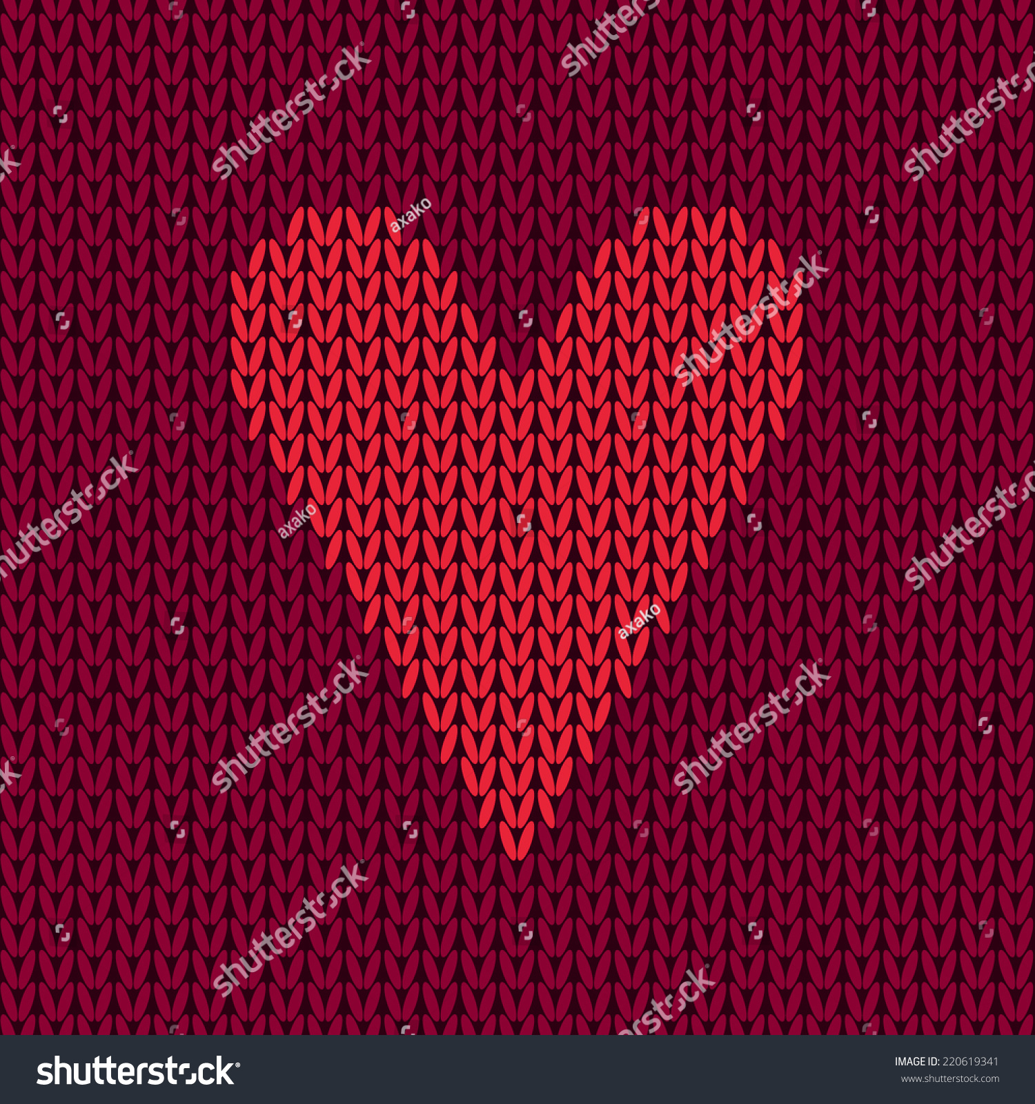 Textured Heart Knitting Pattern : Vector Colorful Seamless Knitting Wool Pattern With Heart ...