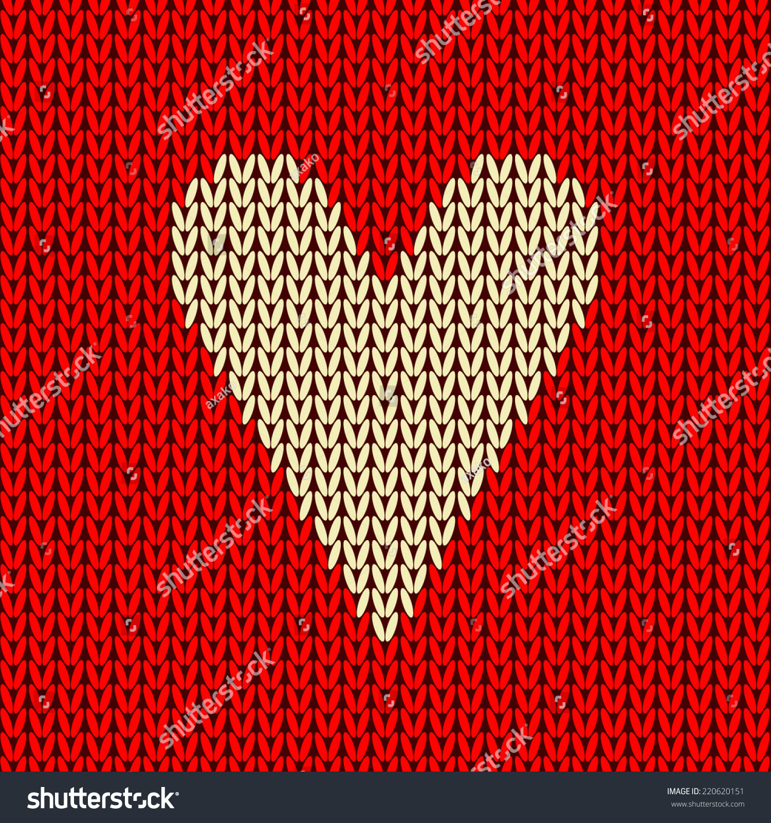 Vector Colorful Seamless Knitting Wool Pattern Stock Vector Royalty