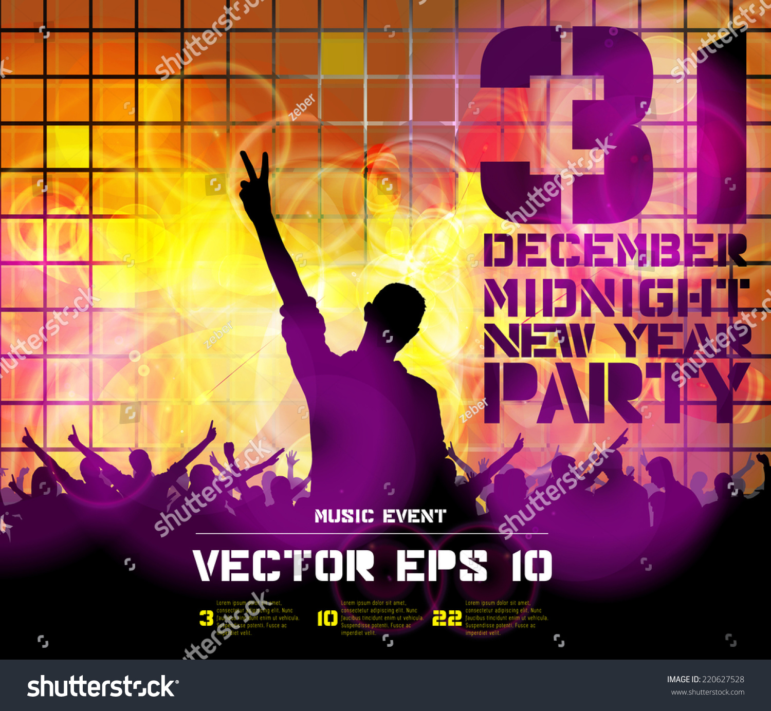 dancing people background for new year party event poster vector