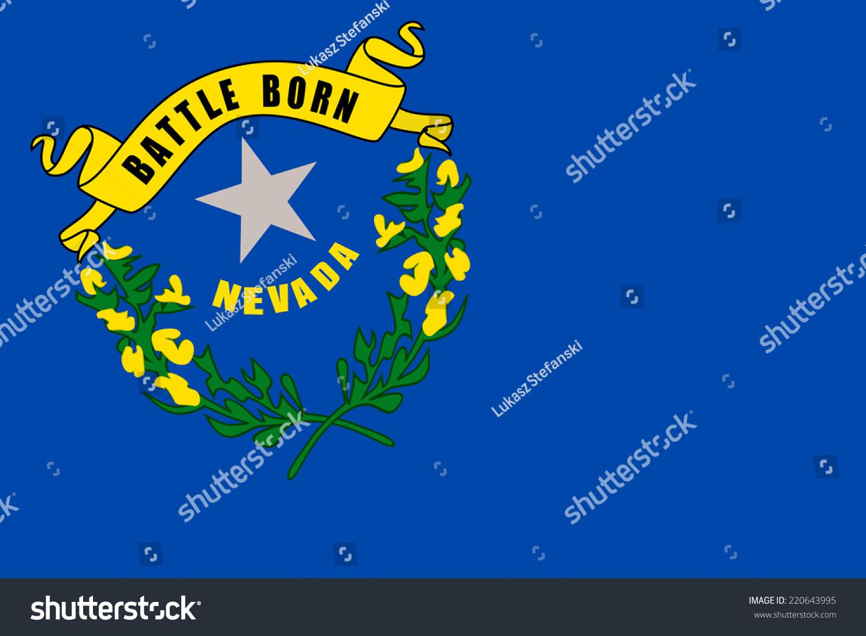 Nevada State Flag Close Up Stock Illustration 220643995 Shutterstock